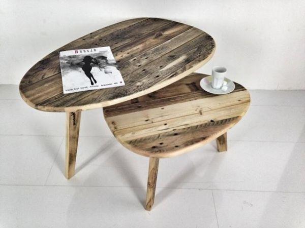 Kaffeetische Palettenholz-Ei-Förmig                              …