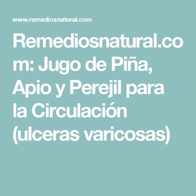 Remediosnatural.com: Jugo de Piña, Apio y Perejil para la Circulación (ulceras varicosas)