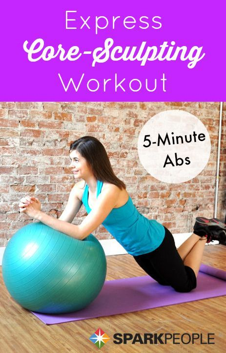 Blast your abs and core with this fun and effective 5-minute workout! | via @SparkPeople #fitness #exercise #video