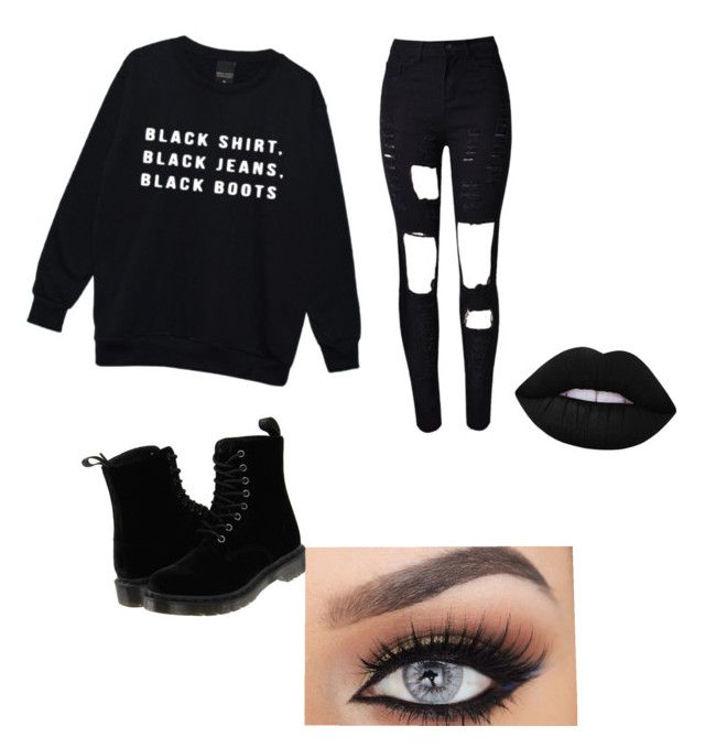 """""""Blackout"""" by jnbell on Polyvore featuring Dr. Martens and Lime Crime"""
