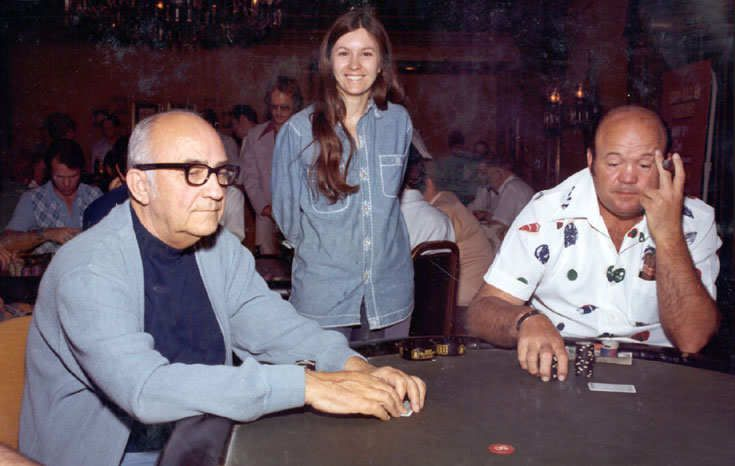 Johnny Moss, BeckyBinion and Puggy Pearson - World Series of Poker