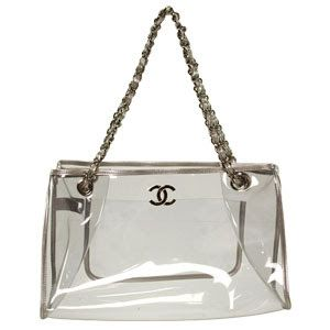 Chanel transparent clear bag