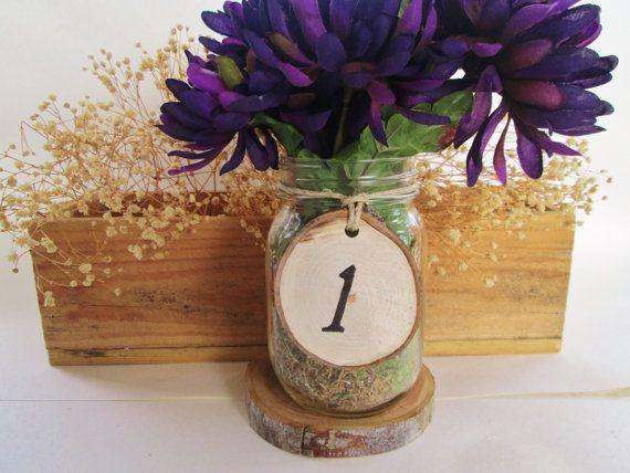 Matrimonio numero numeri di tavolo rustico di DivineRusticCreation