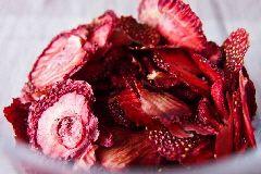 Aardbeienschijfjes drogen