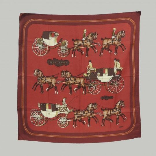 Hermès Coach & Saddle pañuelo / scarf