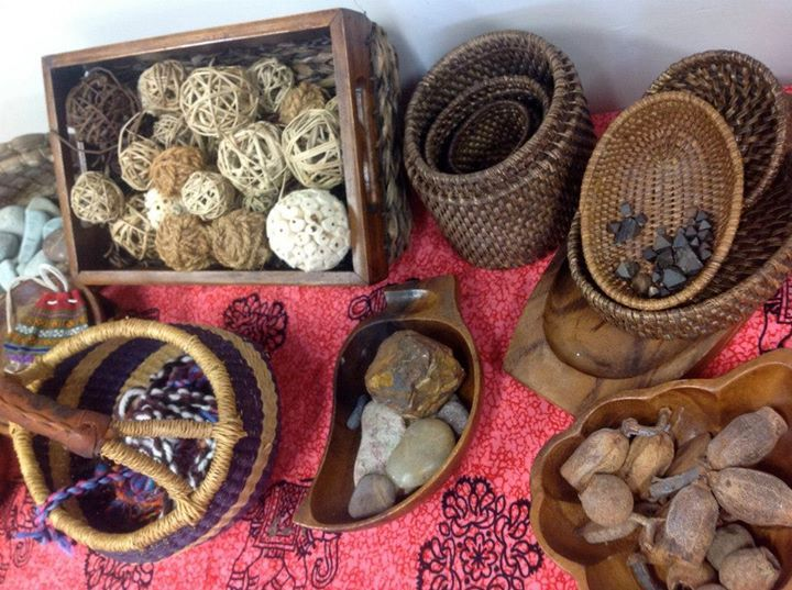 """Beautifully presented materials to explore at Broome - image shared by Early Years Learning ("""",)"""