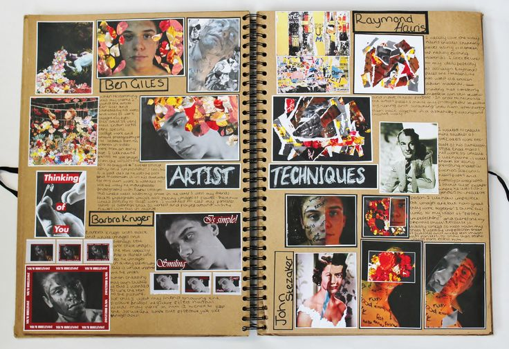 AL Fine Art A3 Brown Sketchbook Artist Techniques CSWK 2016 Thomas Rotherham College