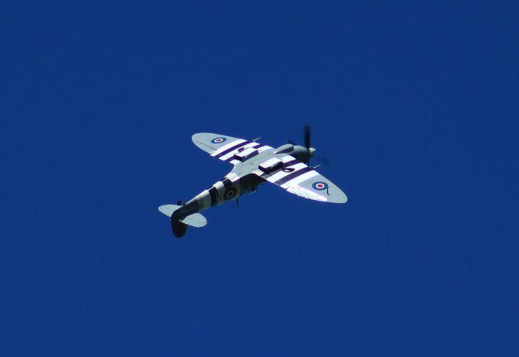 Inverted Spitfire over Kent, England