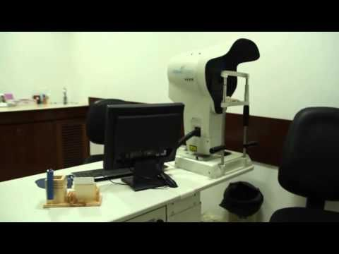 Worldclass machines at Visual Aids Centre owned by Optometrist Vipin Buckshey.