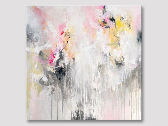 Original große abstrakte Gemälde Pastelle helle von ARTbyKirsten