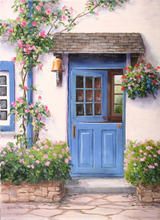 ✿Flowers at the window & door✿ Barbara R. Felisky