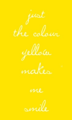 just the color yellow make me smile <3