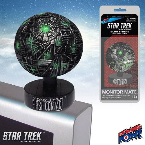 Star Trek First Contact Borg Sphere Monitor Mate Bobble Ship $11.99