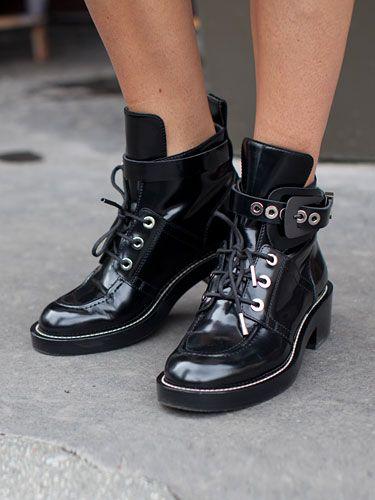 Fall 2013 Couture Week Street Style: Julie, wearing Balenciaga shoes
