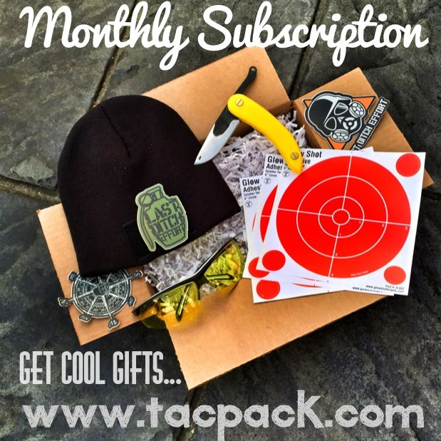 Give a gun lover the gift of tacpack! We scour the industry for the best items and pack them into a monthly subscription box that we deliver to your door. check us out on Instagram @tac_pack or at www.tacpack.com