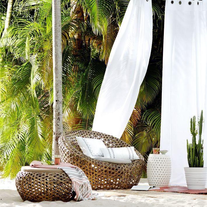 Montauk Nest Chair   Antique Palm. Chair CushionsWest ElmNest ...