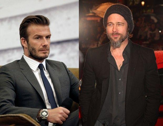 David Beckham e Brad Pitt (Foto: Getty Images)