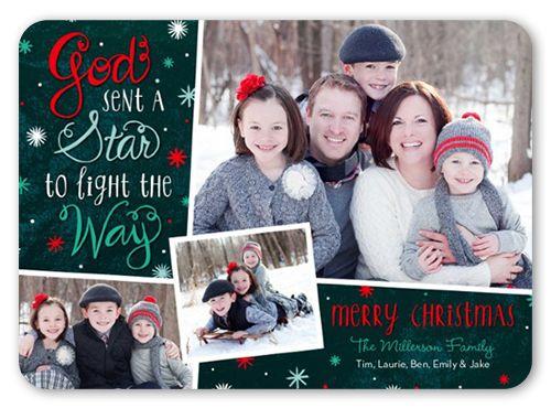 Lighting The Way 5x7 Stationery Card by Poppy Studio | Shutterfly Christmas Card idea 2014