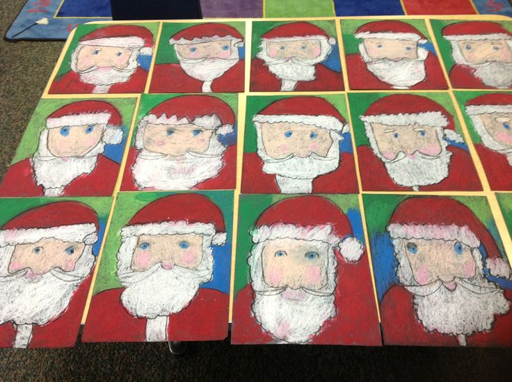 My directed drawing Santas. So proud of my Kindergartners for following directions.