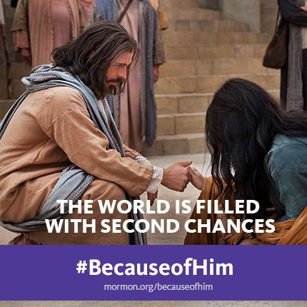 """The world is filled with second chances"" #BecauseofHim"