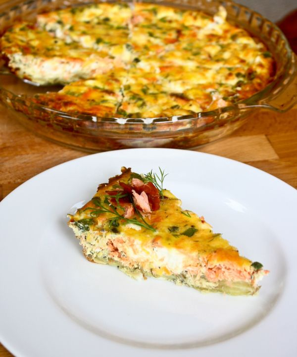 Smoked Salmon Quiche with a savory sweet potato crust #glutenfree #grainfree #paleo