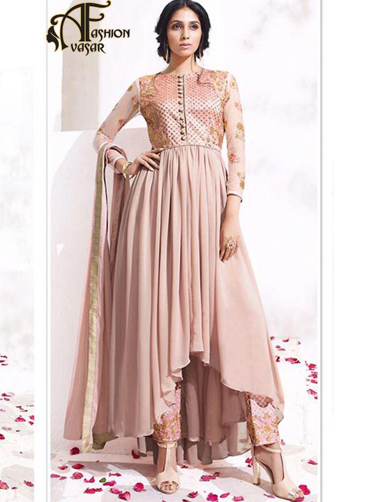Pink Anarkali Dress Online Shopping