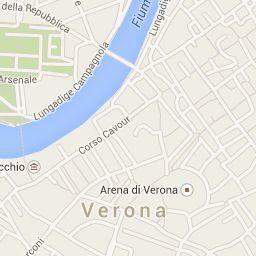 Progetto informatico realizzato su google maps  per una visita guidata in centro città a Verona