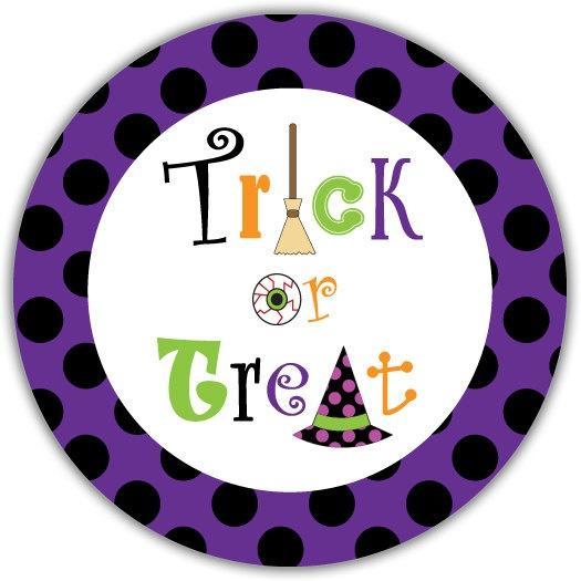 Halloween Plate  Trick or Treat Black by WritefullySewStudio, $18.99