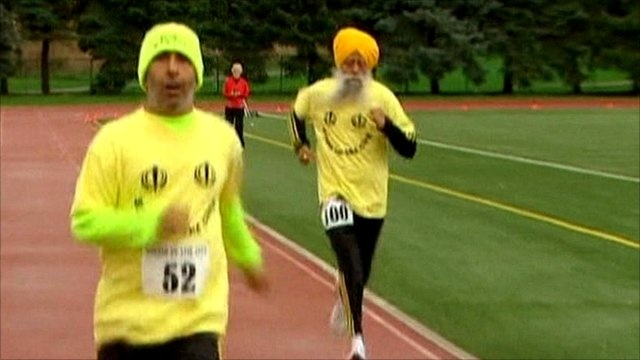100 year old Fauja Singh become oldest marathon runner! Ran the Toronto Waterfront Marathon in eight hours, 25 minutes and 16 seconds.