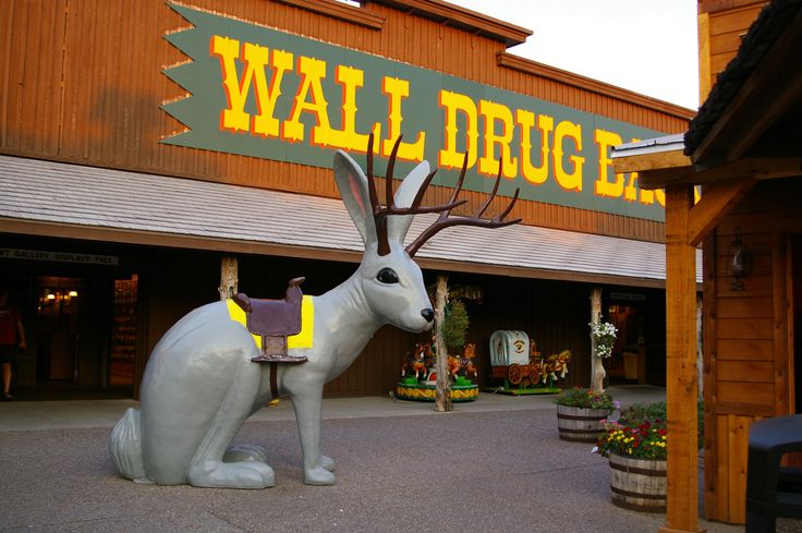 """Wall Drug - Wall, South Dakota This is the historic """"Jack-a-lope""""!  A cross between a jack rabbit and an antelope. HAAA"""