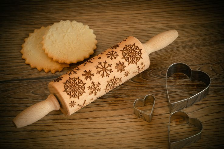 SNOWFLAKES Rolling pin – In My Wood