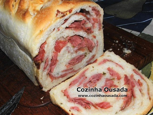 Cozinha Ousada: Pão de Linguiça Calabresa - Reedição