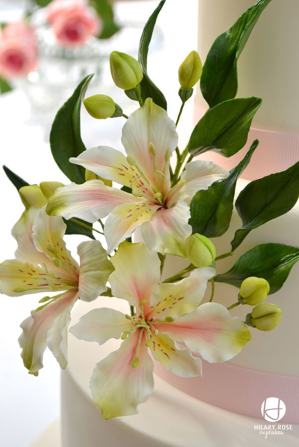 Alstroemeria Wedding cake I loved making these lovely flowers, I have so many in my garden, beautiful reds and creams.