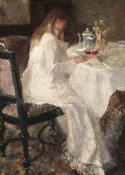 Jan Toorop - Dame en blanche (Annie Hall)