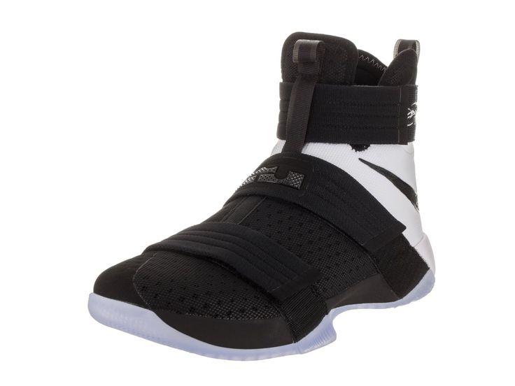Nike Men's Lebron Soldier 10 SFG Black/Black White Basketball Shoe 9.5 Men US