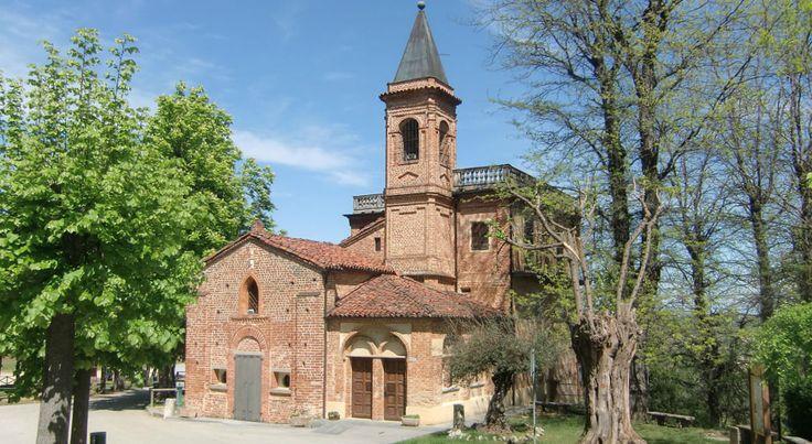The Religious Trail of Montà d'Alba, Sanctuary dei Piloni. Roero wine zone in Piemonte, Italy