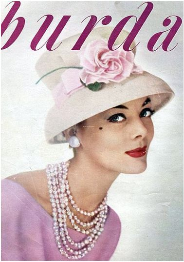 Burda Magazine, 1959: Burda Fashion, Vintage Fashion, Vintage Hats Headress Haircomb, Magazines 1959, Burda Magazines, 1950S Magazines, White Hats, Hats Burda, Magazines Covers