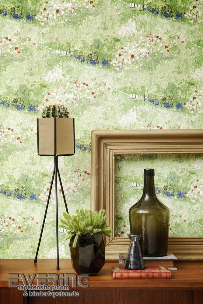Marvelous Van Gogh Der hell gr ne Garten bringt Farbe und Frische in das Wohnzimmer