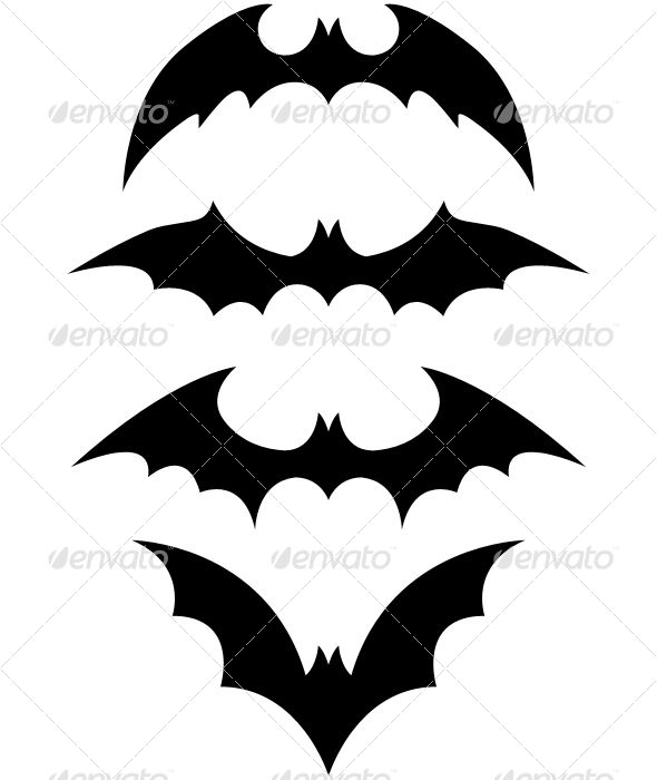 template for cutting out black paper bats - our walls are very spooky now!