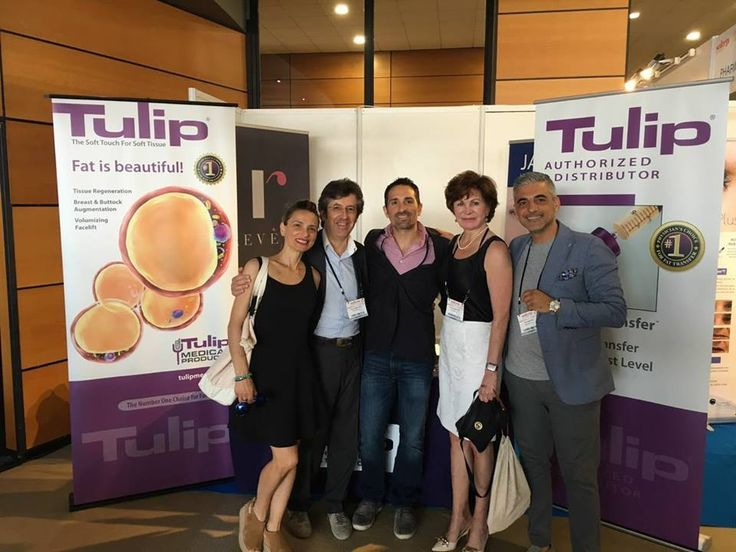 Bonjour from Marseille, France! Tulip Medical Products' CEO Marcille Pilkington alongside our Italian distributors One Globe at the June 2017 SOFCEP meeting. #platicsurgery #plasticsurgeon #tulipmedical #italy #medicaldevice #fattransfer #regenerativemedicine #fatgrafting