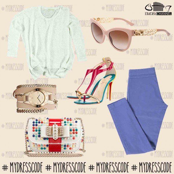 Pants and Blouse MIDALI - Watch ARMANI - Sunglasses DOLCE&GABBANA - Shoes and Bag CHRISTIAN LOUBOUTIN #womenswear #newcollections #springsummer2014 #ss14 #outfit #fashion #style #trends #outfitideas #outfitoftheday #christianlouboutin #dolcegabbana #armani #midali #martinomidali