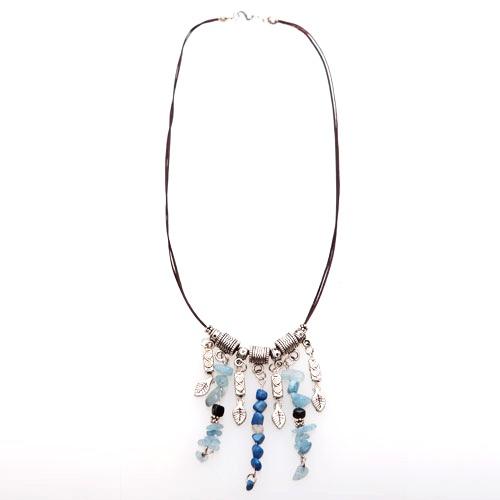 Strand Perline Blue Necklace - Rp. 122.500