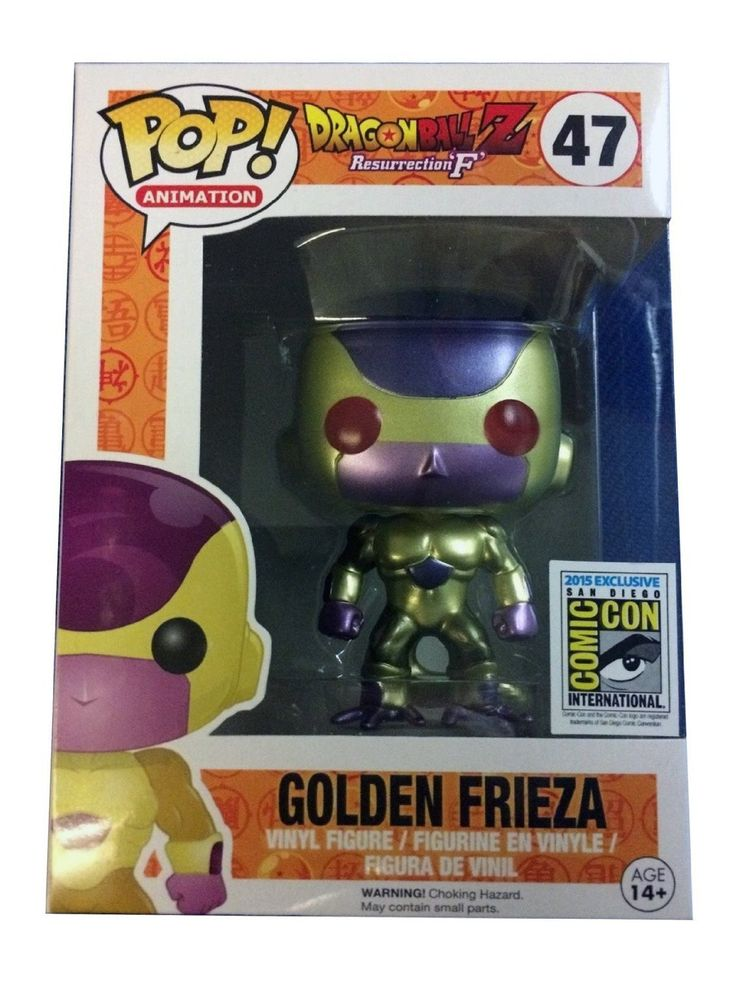 SDCC 2015 Exclusive POP! Vinyl Funimation Gold Frieza with Red Eyes – Toy Wars