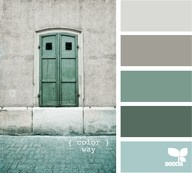 Relaxing Spa Like Grey Blue Green Color Pallette For A