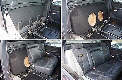 Custom Chevy Avalanche 02-13 Dual 10 Subwoofer Box Bass Speaker Sub Enclosure