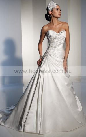 A-line Sleeveless Sweetheart Lace-up Floor-length Wedding Dresses feaf1087--Hodress