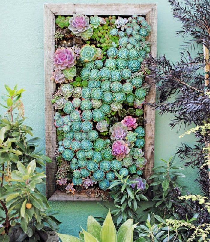Groen tuinschilderij