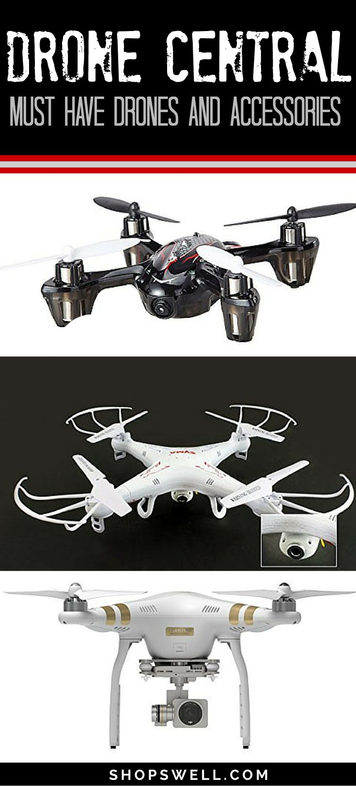 Drones are the most approachable facet of the massive technological advancement occurring in the 21st century. This  list shows you what you need to immerse yourself in this marvelous world of drones