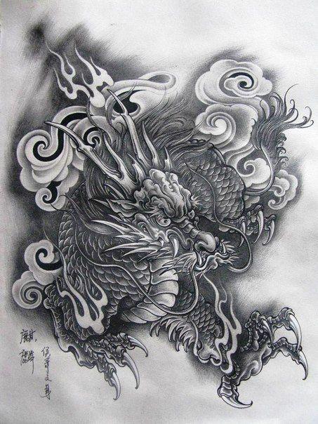 die besten 25 japanische drachen tattoos ideen auf pinterest japanischer drache. Black Bedroom Furniture Sets. Home Design Ideas