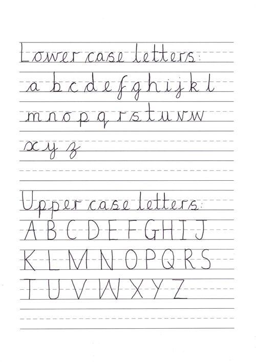 cursive alphabet key stage 1 pinterest. Black Bedroom Furniture Sets. Home Design Ideas